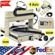 4 Axis Cnc 3040 Router Engraver Kit 800w Vfd Engraving Milling Drilling Machine