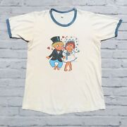 Vintage 70s Raggedy Ann And Andy Shirt Size L Single Stitch Made In Usa