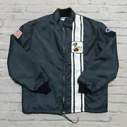 Vintage New Deadstock Ford Mustang Cobra Shelby Racing Jacket Size L Mint Black