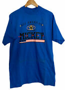 Vintage Single Stitch Disney Mickey Mouse All American Authentic Wear T Shirt L
