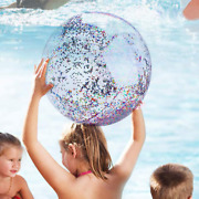 5 Pack Sequin Beach Ball Pool Toys Balls Giant Confetti Glitter Inflatable Clear