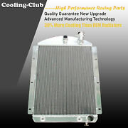 Fit 41-46 Chevy Bl Bn Truck Pickup 3 Row Aluminum Radiator V8 Only