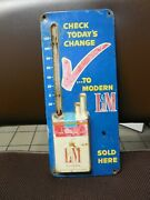Vintage L And M Cigarette Metal Thermometer
