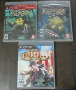 Ps3 Bioshock 1 And 2 And Bioshock Infinite Lot 3 Games Trilogy Playstation 3 Ps3