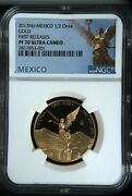 Libertad Mexico 2017 1/2 Oz Onza Proof Gold Coin Ngc Pf70 Ucam First Releases
