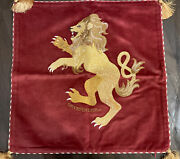 Harry Potter Gryffindor Pottery Barn Throw Pillow Embroidered Velvet Sold Out