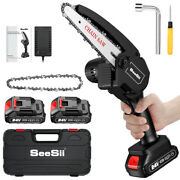 Seesii 750w 24v Rechargeable Mini Pruning Chain Saw Chainsaw For Parks Farms Use