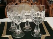 Rare Beautiful Set Vintage Crystal Cups Wine Beer Dinner Kitchen Mugs Home Cup