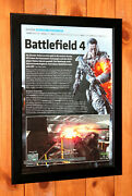Battlefield 4 Video Game Xbox 360 One Ps4 Ps3 Rare Small Poster Ad Page Framed