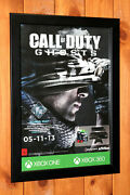 2013 Call Of Duty Ghosts Ps4 Ps3 Xbox One 360 Rare Small Poster / Ad Page Framed