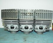 Kawasaki S3 400 Cylinders And Heads Std Bore W/ 2 Nos Pistons And Wrist Pins Kh