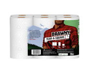 Brawny Tear-a-square Paper Towels, White, 6 Double Rolls
