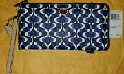 Coach Peyton Dream C Multifunction Wallet Sv/navy/tan Msrp 248 New With Tags