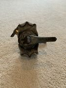 Amerock Carriage House Passage Lever - Locking - Antique Silver