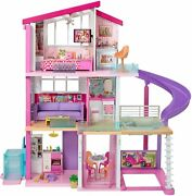 Barbie Dreamhouse Dollhouse With Wheelchair Accessible Elevator Pool Slide New