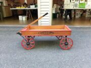 1890and039s Wooden Childand039s Advertising Wagon Cupp Groceries/acme Market