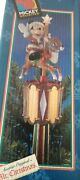 A Mickey Carousel Tree Top Or Table Piece Mr. Christmas W/ Box Free Shipping