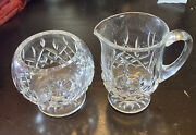 Waterford Crystal Lismore Footed Sugar And Creamer Full Size Perfect Condition