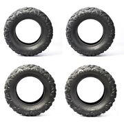 Set Of 4 All Terrain Atv Tires 25x8x12 25x10x12 Front And Rear 25x8-12 25x10-12