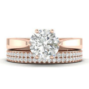 1.64ct D-si1 Diamond Round Engagement Ring 14k Rose Gold Any Size