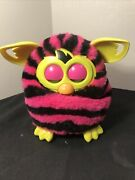 Furby Boom Pink And Black Stripes Interactive Figure Hasbro, 2012 Works Great
