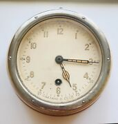Boat Ship Watch Submarine Cabin Wall Clock Navy Military Vintage Ussr 1969
