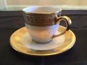 Lenox Westchester Demitasse Cup And Saucer 1st Q. New Fine Bone China Made Usa