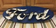 Ford Motor Auto Genuine Parts Mustang Garage Shop Man Cave Weld Metal Wall Decor