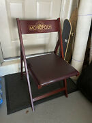 Franklin Mint Monopoly Set Of 2 Wood Chairs New Rare 2