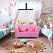 Children Sofa Kids Couch Armrest Chair With 2 Pillows For Playroom Livingroom