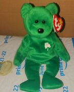 Ty Beanie Baby Erin 1997 Number Stamp 403 Mint Condition Rare Opp Green Bear