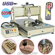 Usb 4 Axis Cnc 6090 Router Engraver Metal 3d Milling Engraving Machine 2200w+rc
