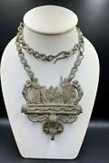 Old Antique Vintage Jewelry Bronze Necklace Ancient Romanand039s Byzantine Empire