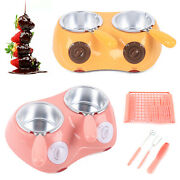 2-pots Chocolate Melter Melting Machine Electric Heating Double Cylinder 25w