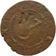 Mozambique Copper Reis Countermarked Mr Very Rare 31mm 8.3g T59 383
