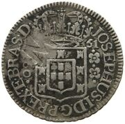 Mozambique 160 Reis 1751 Countermarked Mr Very Rare T59 439