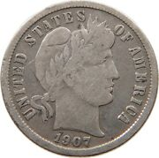 United States Dime 1907 S T121 239