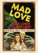 Vintage Motorcycle Tin Signs Mad Love 1935 Horror Movie Poster Metal Tin Sign