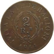 Argentina 2 Reales 1844 T135 009