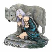 Protector By Anne Stokes Ltd Edition 25cm Figurine Ornament Nemesis Now Wolves