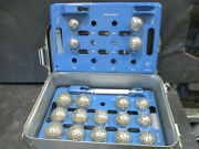 Zimmer Hall 1207-205 And 1207-206 Acetabular Reamer System W/ Gensis Case