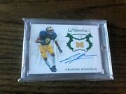 Charles Woodson 2019 Flawless Signatures Emerald 1/5 Michigan Wolverines