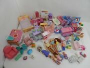 Loving Family Furniture Fisher Price Mattel W/ 8 Dolls 50+ Pieces Other Brands