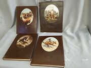 Time Life Books The Old West Series - Lot Of 4 Book Hardcover Western Leather