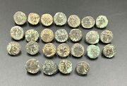 Lot 25 Old Ancient Antique Rare Bronze Indo Greco Greekand039s Kushan Coins Jewelry