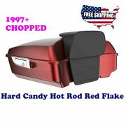 Us Stock Hard Candy Hot Rod Red Flake Chopped Tour Pack Fit 1997-2020 Harley
