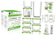 Vacuum Seal Food Storage System Reusable Container Deluxe Set With Vacuum And