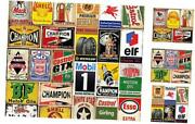26 Pieces Gas And Oil Tin Signs Retro Vintage Metal Sign For Home Man Cave
