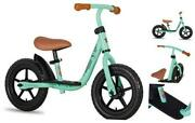 10/12 Kids Balance Bike With Footrest For Girls And Boys Ages 10 Inch Green