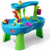 Kids Activity Water Park Table 13pc Set Rain Showers Play Toy Tub Pail Duck Frog